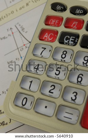 Calculator on book