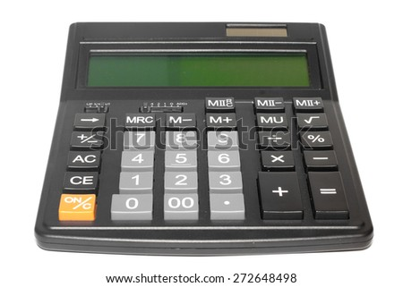 Calculator on the white background. - stock photo