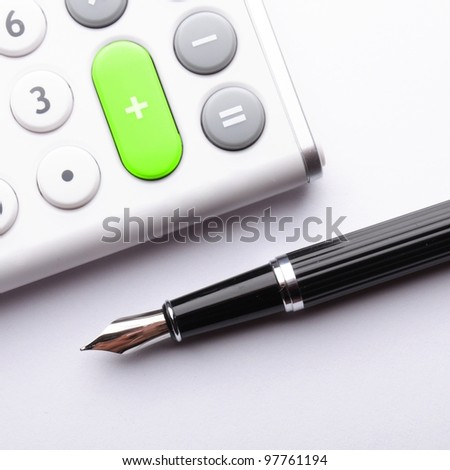 calculator showing business still life or financial accounting concept - stock photo
