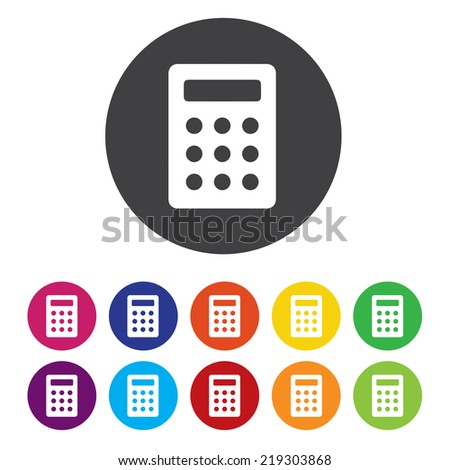 Calculator sign icon. Bookkeeping symbol - stock photo