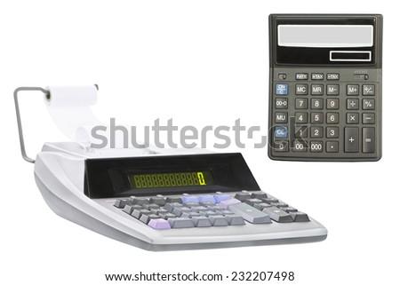 calculator under the white background - stock photo
