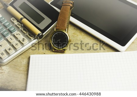 calculator watches objects pen