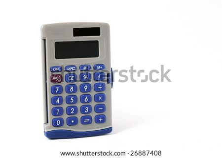 calculator with white background