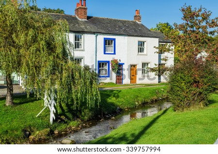 Caldbeck village in Cumbria, England - stock photo