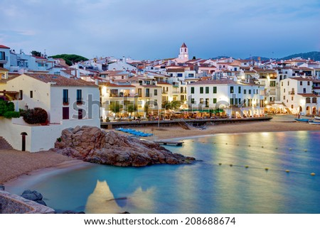Calella de Palafrugell at early evening, Costa brava, Catalonia, Spain