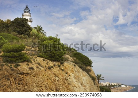 Calella is a seaside town.  - stock photo