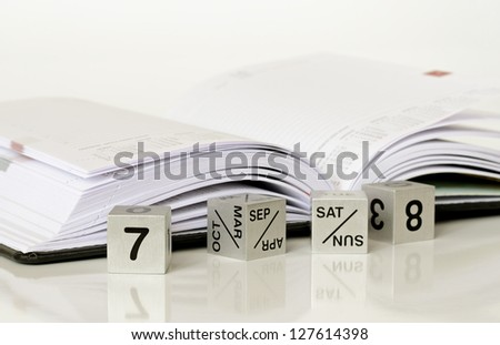 Calendar and a diary - stock photo