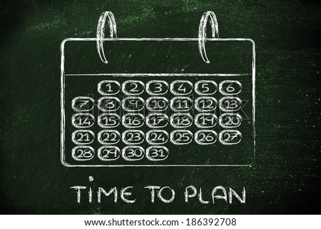 calendar and concept of achievements, planning, completing a task - stock photo