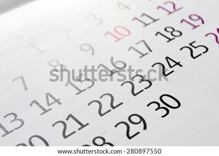 Calendar background - stock photo