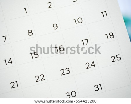 calendar background