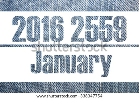 Calendar background gene 2016 2559, 12 Month and Happy New Year - stock photo