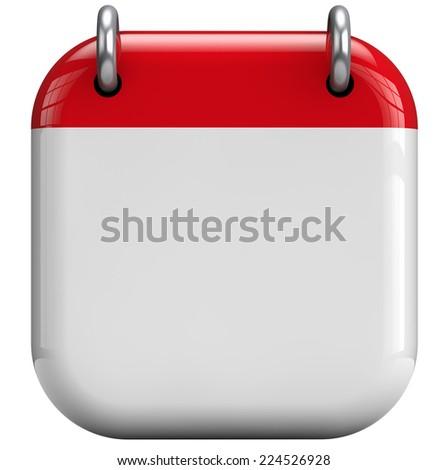 Calendar blank 3D isolated icon. - stock photo