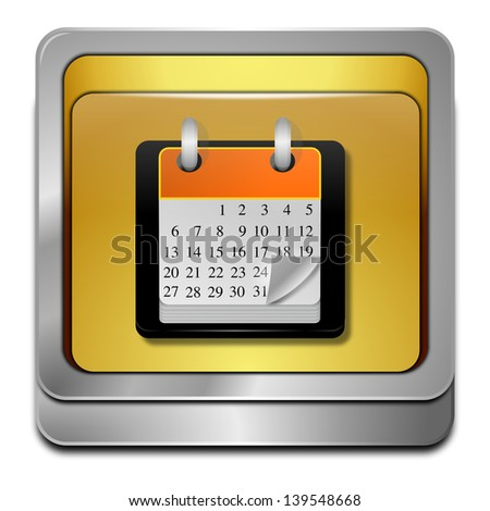 Calendar button - stock photo