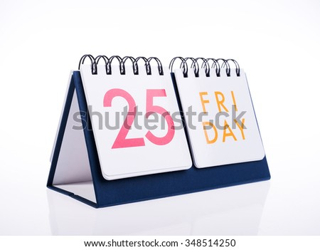 calendar december 2015 christmas days isolated on white background,New Year 2016 is coming concept - stock photo