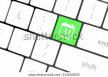 Calendar Icon on Computer Keyboard