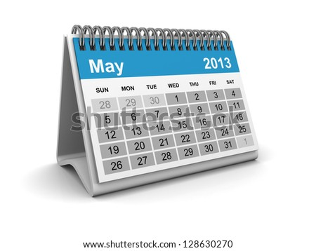 Calendar 2013 - May - stock photo