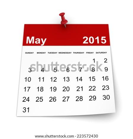 Calendar 2015 - May - stock photo