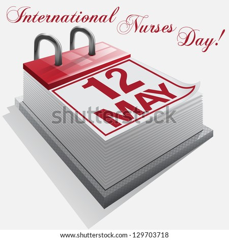 calendar.12 May. International Nurses Day - stock photo