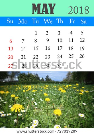 Calendar, May 2018, Photo   Spring Flowers, Motivation, Poster, Quote,