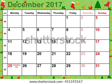 Google calendar 2016 december