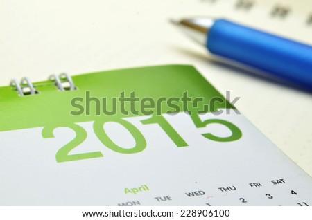 calendar of 2015 - stock photo