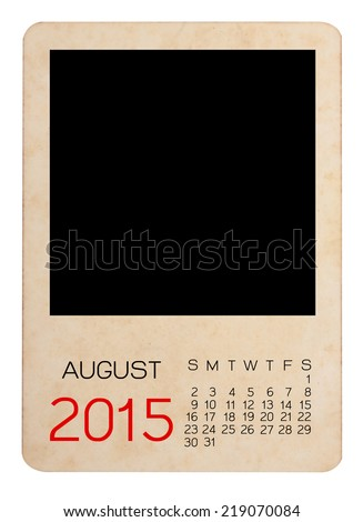 Calendar 2015 on the Empty old photo - stock photo