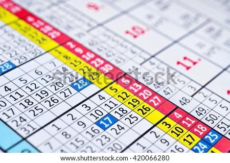Calendar organizer day planning - stock photo