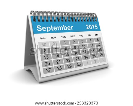 Calendar 2015 - September - stock photo