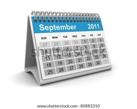 Calendar - September - stock photo