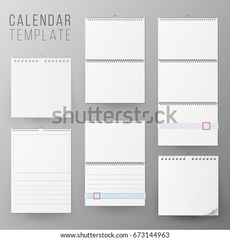Calendar Hanging On Wall Stock Images, Royalty-Free Images
