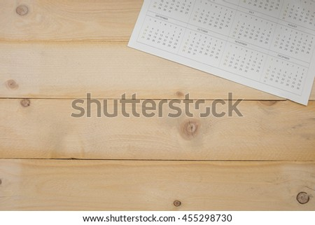 calender on wooden background  - stock photo
