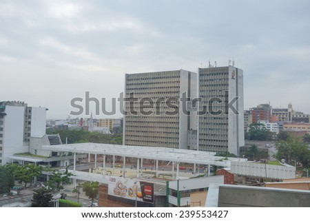 CALI, COLOMBIA  OCTOBER 15, 2014: View of the city of Cali in Colombia