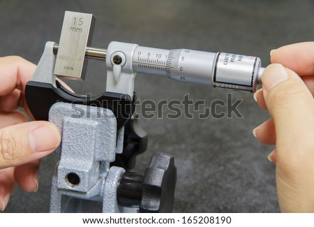 Calibration micrometer - stock photo
