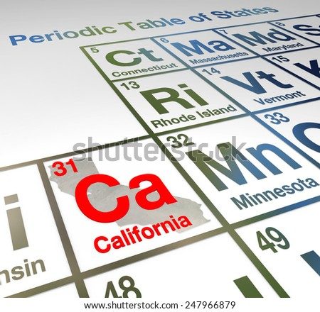 California abbreviation ca on periodic table stock illustration california abbreviation ca on a periodic table of elements or states comparing th emerits of different urtaz Images