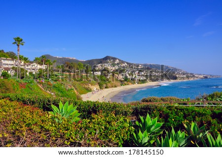 California beach houses - stock photo