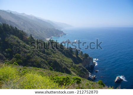 California coast - stock photo