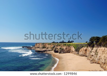 California coast in springtime