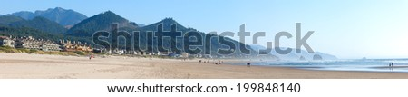California Coast Panorama - stock photo