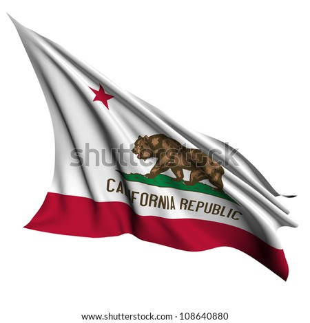 California flag - USA state flags collection no_2 - stock photo