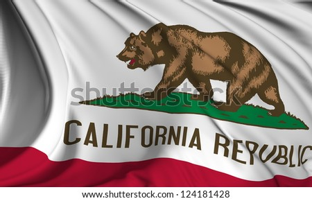 California flag - USA state flags collection no_3 - stock photo