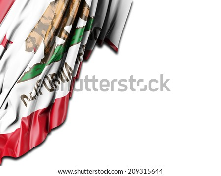 California Flag with white - stock photo
