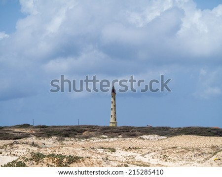 California LighthouseViews around Aruba a small caribbean Island in the Netherland Antilles - stock photo