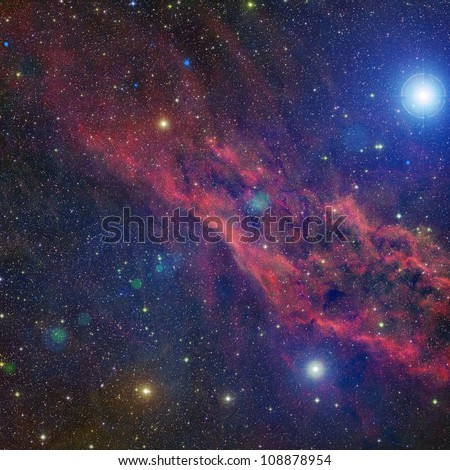 California nebula - stock photo