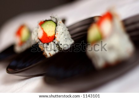 California Roll in Middle