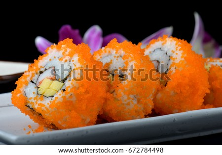 Shrimp roe stock images royalty free images vectors for Flying fish roe