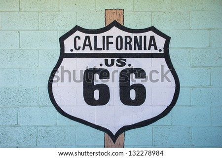 California route 66 sign