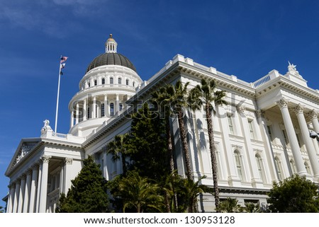 California State Capitol in Sacramento - stock photo