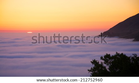 California sunset - stock photo