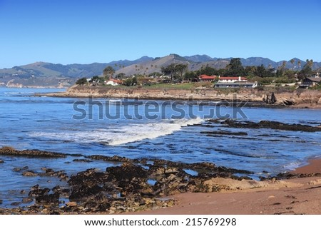 California, United States - Pacific coast view. Shell Beach in Pismo Beach township (San Luis Obispo county).