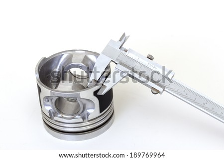 caliper and auto parts industry - stock photo